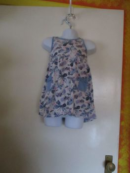 George 1 1/2 - 2yrs Blue Butterflies Summer Dress