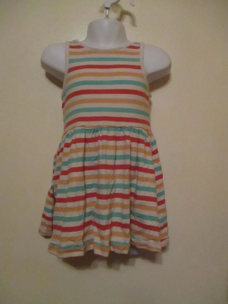 Multicoloured Stripe Midi Dress 2-3yrs Florence & Fred