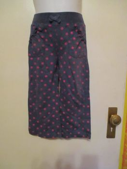 Navy Blue Grey With Pink Spots Leggings 2-3yrs Tu