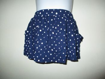 Navy Blue White Spot Mini Skirt - Size 12-18Months - Florence & Fred