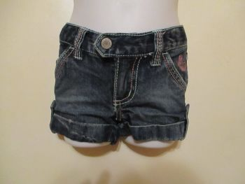 Pumpkin Patch 1Yr Denim Roll Effect Shorts
