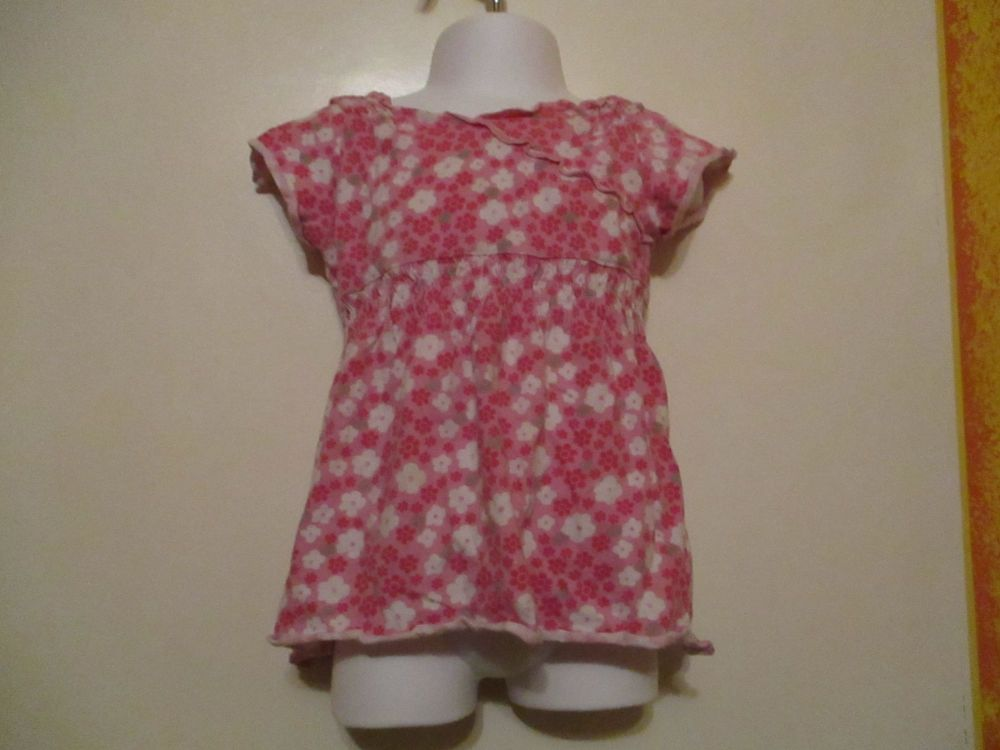Stretchy Pink Floral Dress 2-3yrs Next