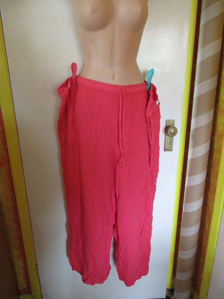 Fluorescent Pink Leisure Trouser Size 16 Global Productions