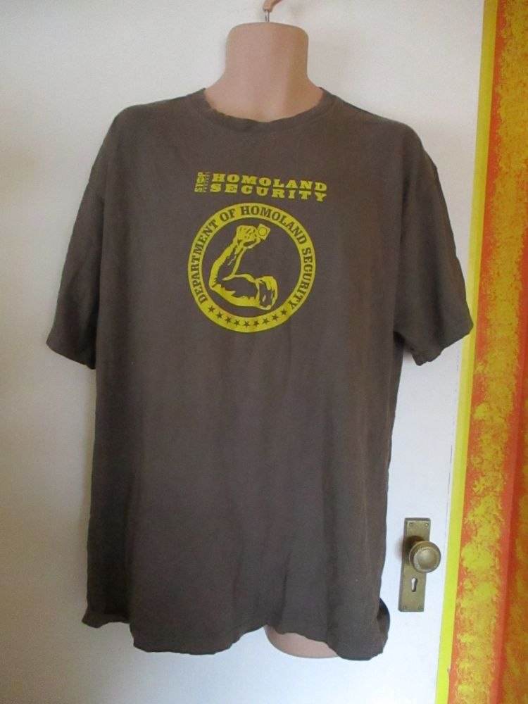 Dark Olive Green Size XL Department Of Homoland Security T-Shirt