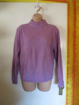 Lilac Knitted Jumper Bon Marche Size XL
