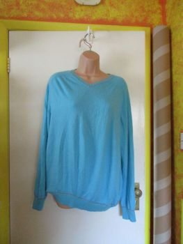 Minty Blue Florence & Fred Size L Knitted Jumper