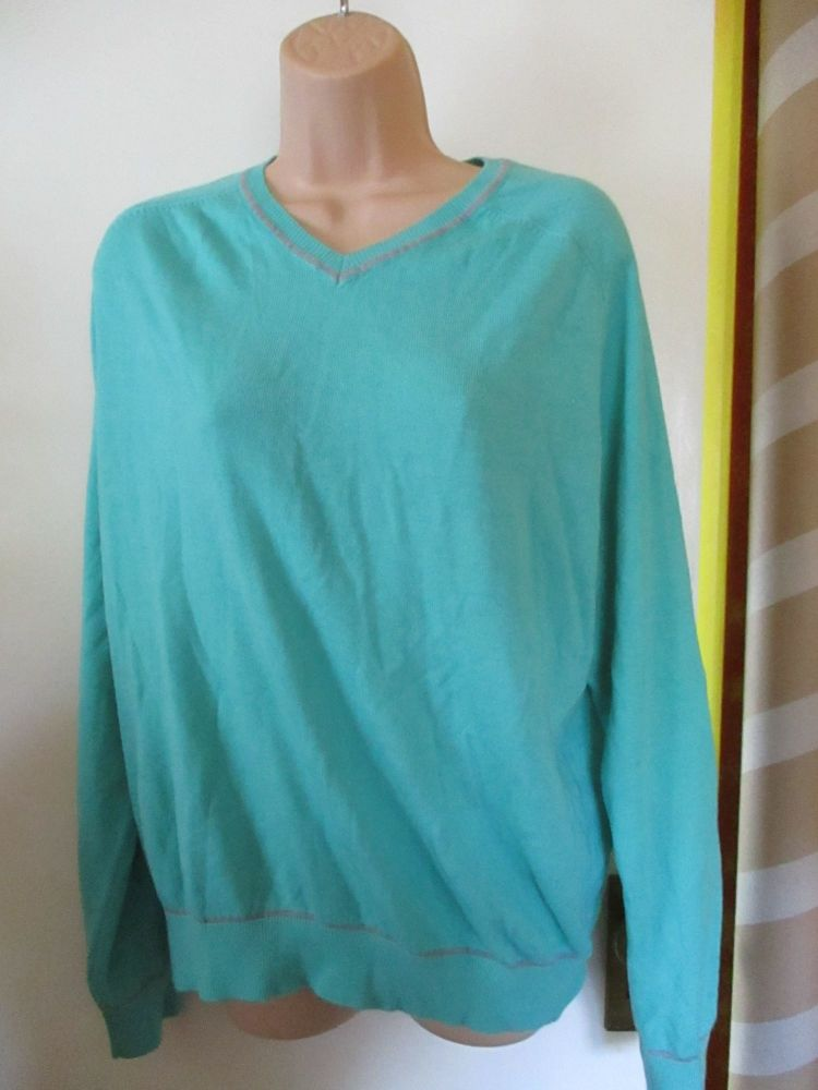 Minty Green Florence & Fred Size L Knitted Jumper