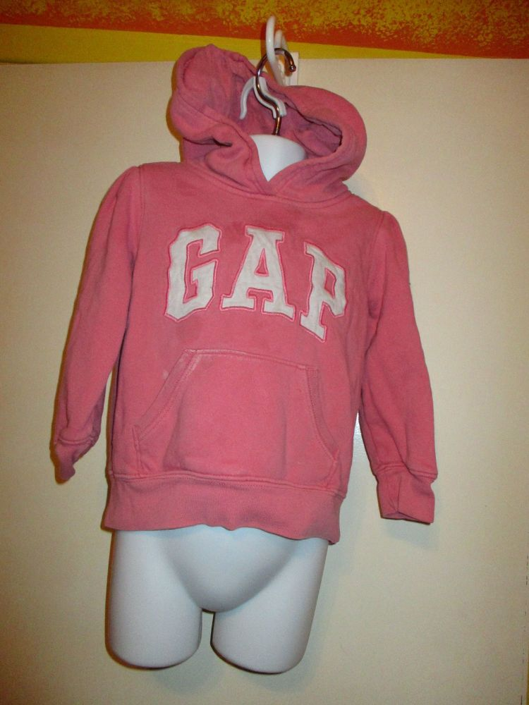 Salmon Pink Hoody Jumper Top - 4yr - Baby Gap