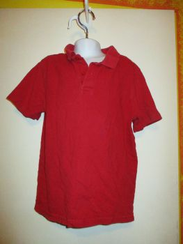 Red Polo T-Shirt Top 9-10yrs - Florence & Fred