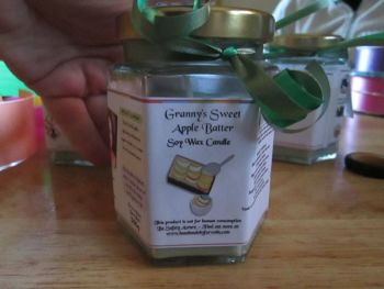 Granny's Sweet Apple Batter Scented Soy Wax Candle 300g