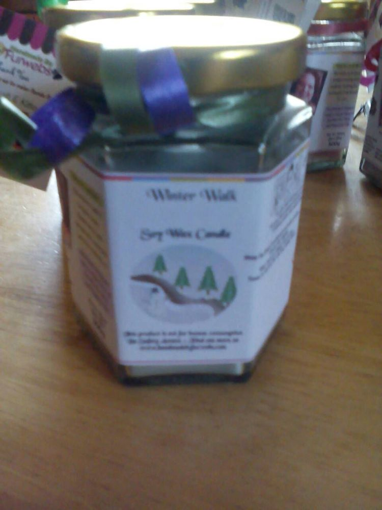 Winter Walk Scented Soy Wax Candle 300g