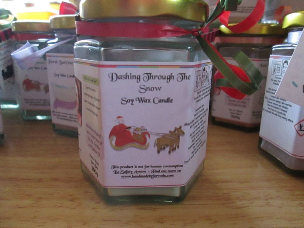 Dashing Through The Snow Scented Soy Wax Candle 300g