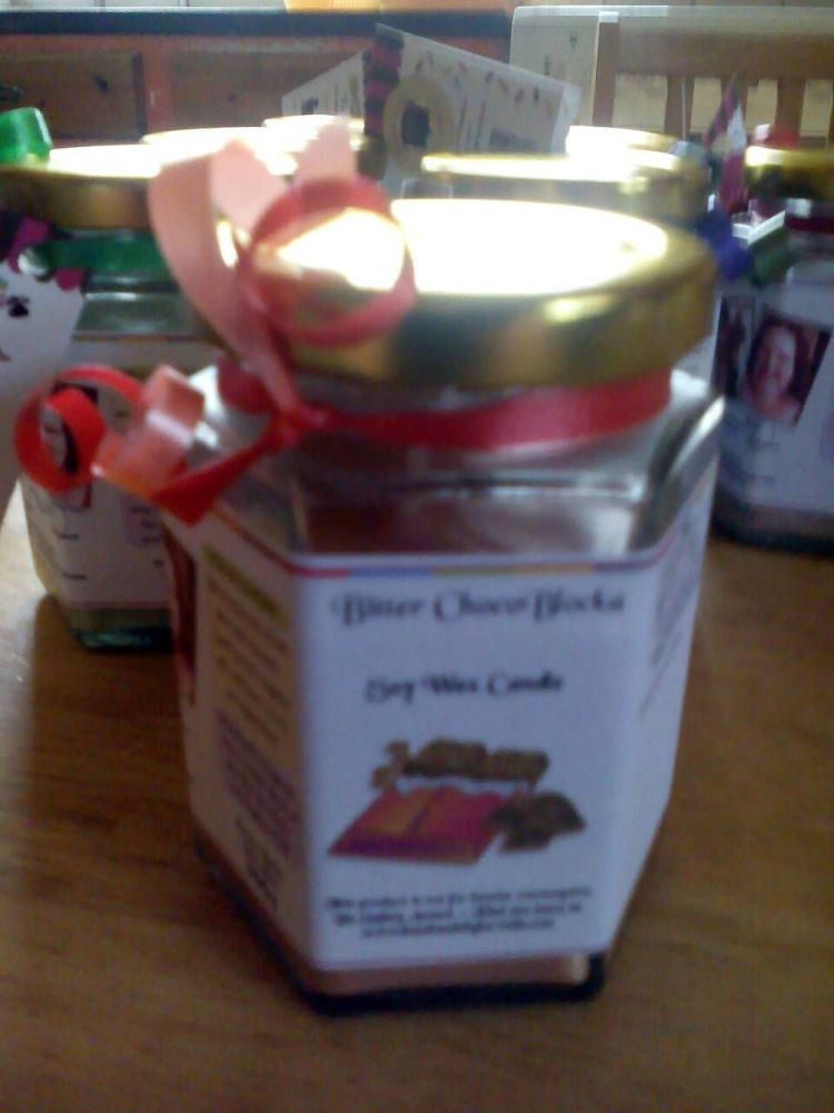 Bitter ChocoBlocka Scented Soy Wax Candle 300g