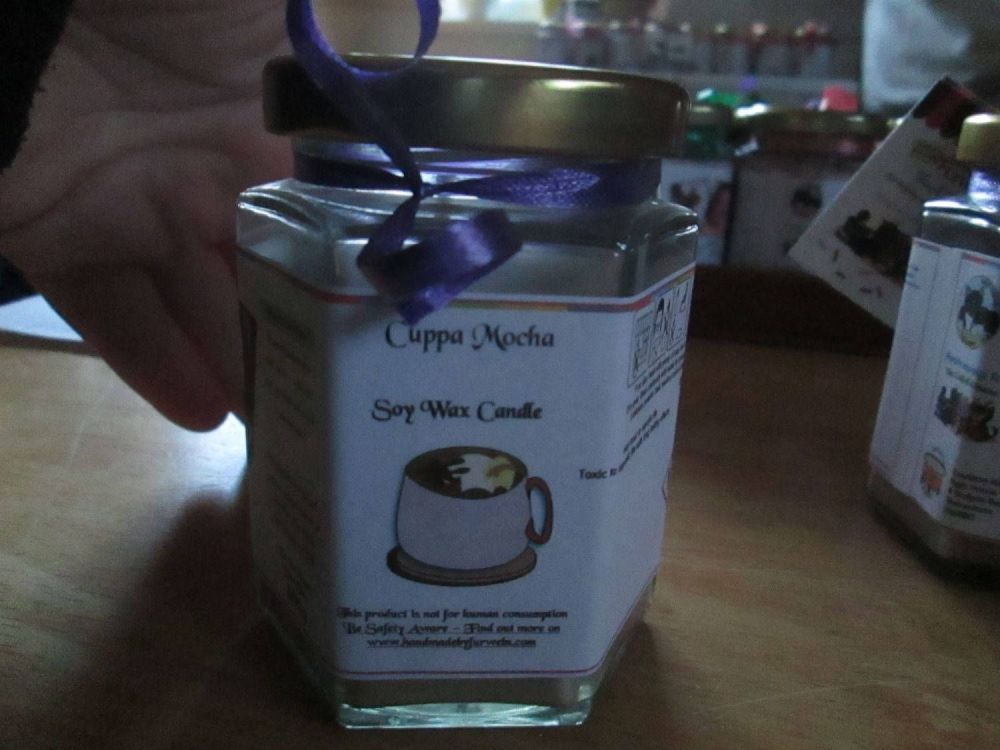 Cuppa Mocha Scented Soy Wax Candle 300g