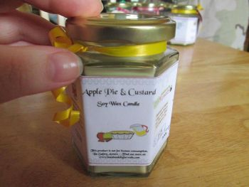Apple Pie & Custard Scented Soy Wax Candle 300g