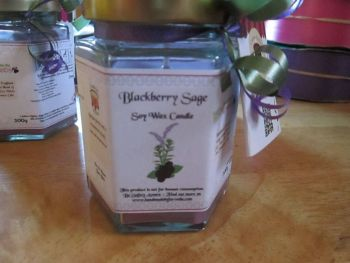 Blackberry Sage Scented Soy Wax Candle 300g