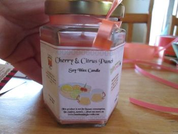 Cherry & Citrus Punch Scented Soy Wax Candle 300g