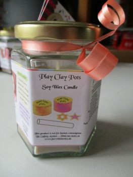 Play Clay Pots Scented Soy Wax Candle 300g