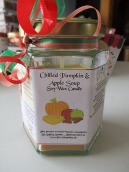 Chilled Pumpkin & Apple Soup Scented Soy Wax Candle 300g