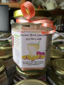 Passion Fruit Smoothie Scented Soy Wax Candle 300g