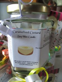 Caramelised Custard Scented Soy Wax Candle 300g