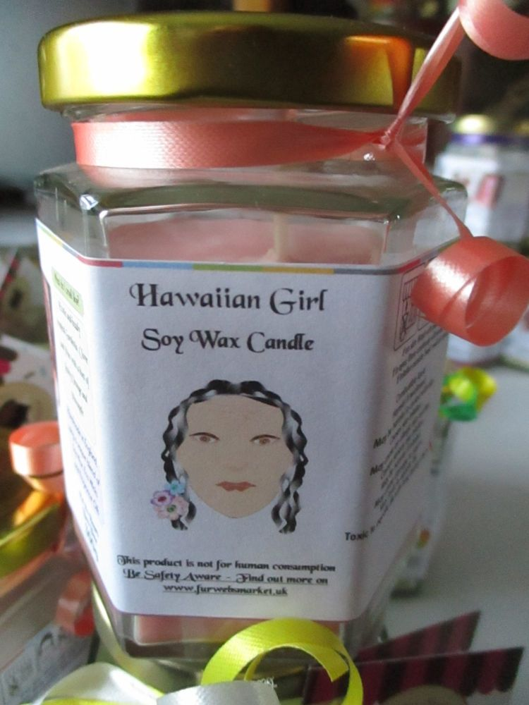 Hawaiian Girl Scented Soy Wax Candle 300g