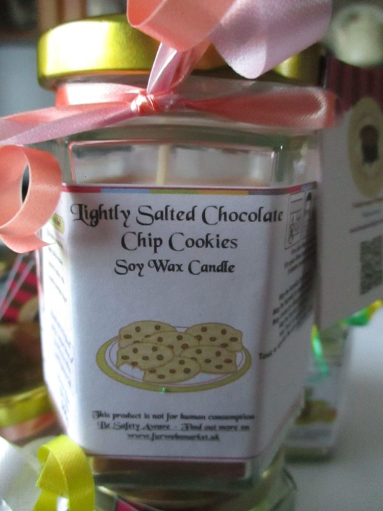 Lightly Salted Chocolate Chip Cookies Scented Soy Wax Candle 300g