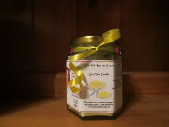 Sherbet / Sherbert Lemon Sweets Scented Soy Wax Candle 300g