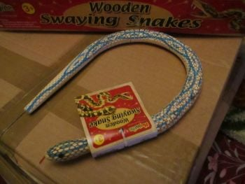 Light Blue Wooden Swaying Snake - Playwrite