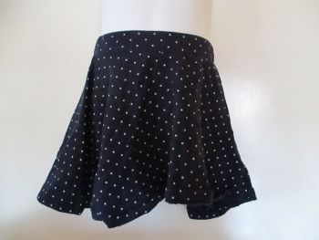 Navy Blue & White Spots Design Skirt - Size 2/3yr - H&M