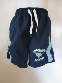 Shark Cove Hawaii Beach Club Navy Blue Shorts - Size 18-24m - Little Rebel