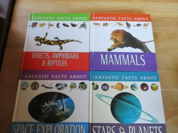 "Set Of Four ""Fantastic Facts About"" Books - Insects, Space, Mammals, Planets"