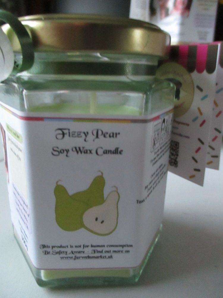 Fizzy Pear Scented Soy Wax Candle 300g