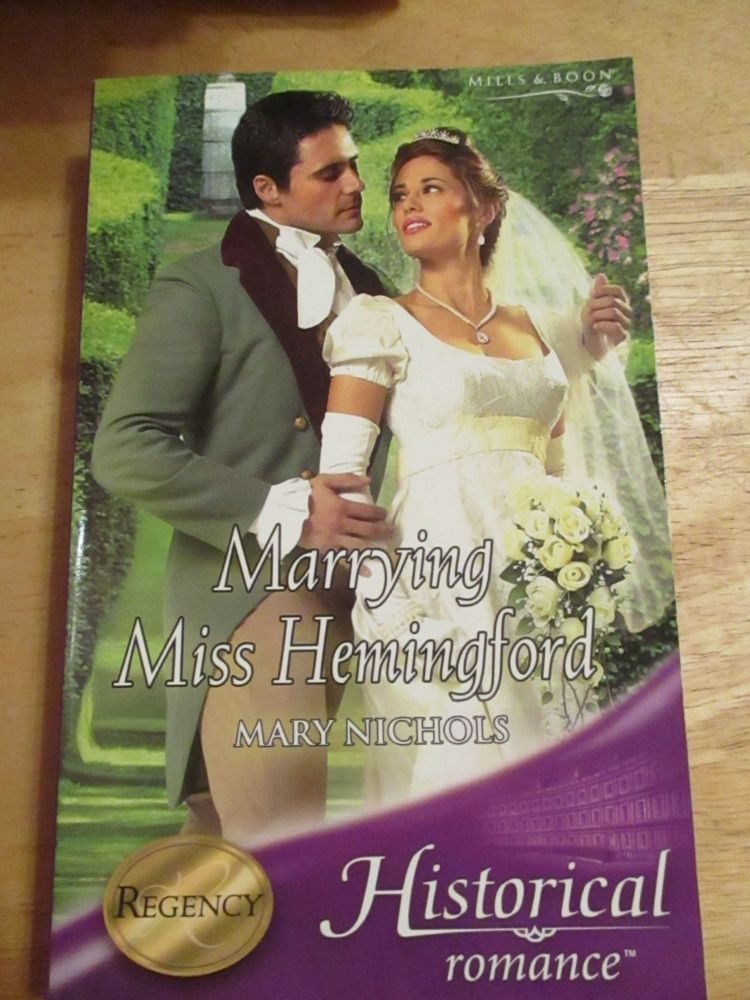 Historical Romance Mills & Boon - Marrying Miss Hemingford - Paperback