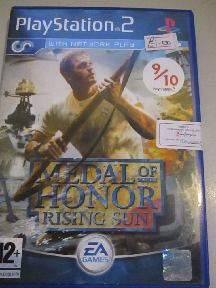 Medal Of Honor Rising Sun - PS2 Playstation 2 Game