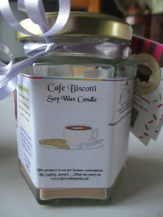 Cafe Biscotti Scented Soy Wax Candle 300g