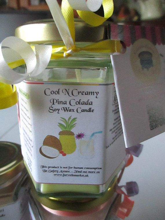 Cool N Creamy Pina Colada Scented Soy Wax Candle 300g