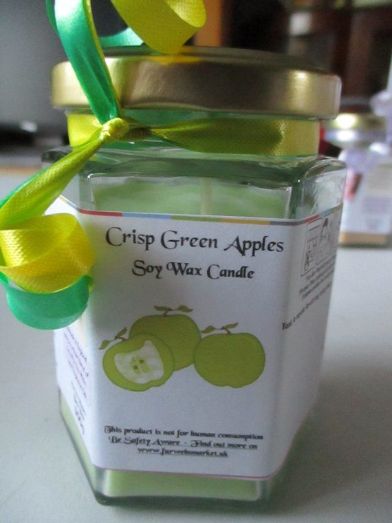 Crisp Green Apples Scented Soy Wax Candle 300g