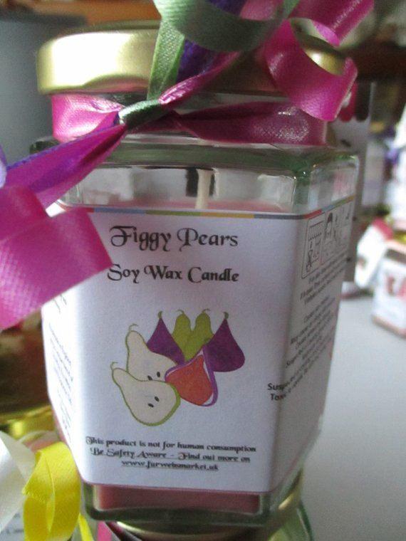 Figgy Pears Scented Soy Wax Candle 300g