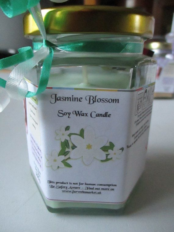 Jasmine Blossom Scented Soy Wax Candle 300g