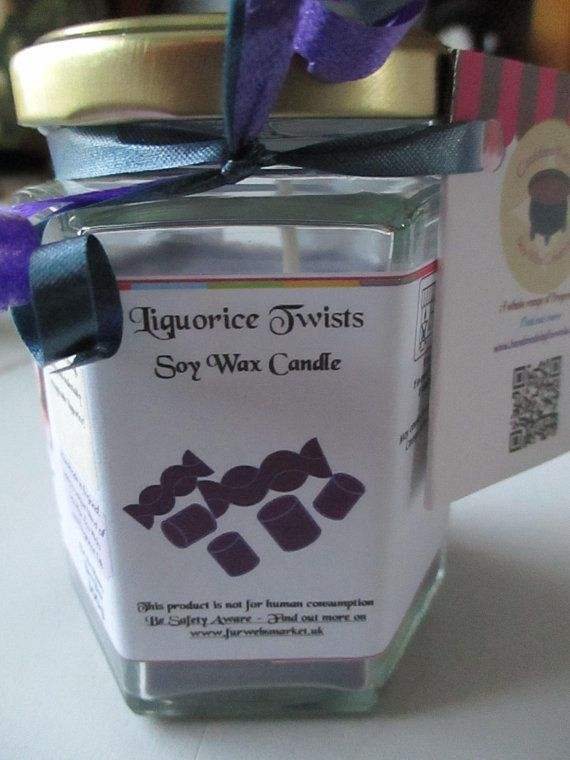 Liquorice Twists Scented Soy Wax Candle 300g