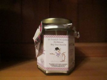 Mr Frosty's Candycane Christmas Scented Soy Wax Candle 300g