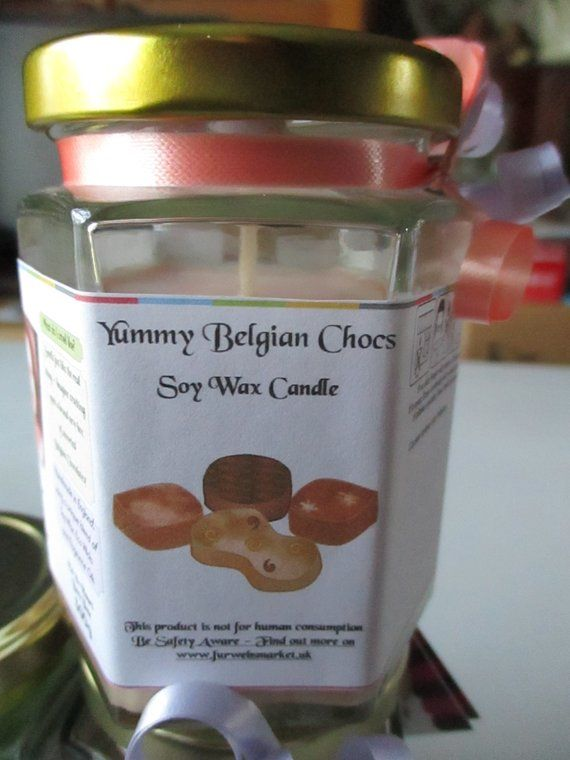Yummy Belgian Chocs Scented Soy Wax Candle 300g