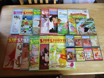 Vintage Classic Walt Disney Storytime Collection Magazines & Cassettes Job Lot