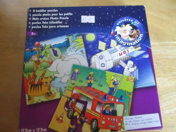 ToysRUs 3 Toddler Puzzles - Universe Of Imagination 1 complete 2 Incomplete