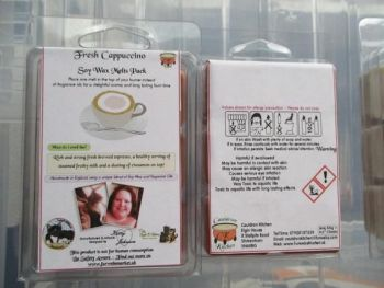 Fresh Cappuccino Scented Soy Wax Melts Pack
