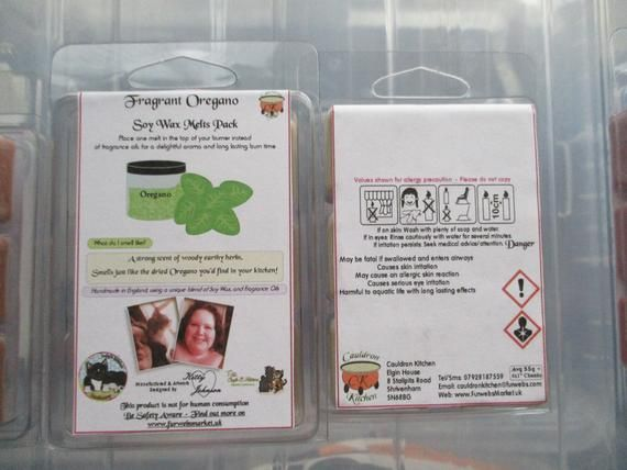 Fragrant Oregano Scented Soy Wax Melts Pack