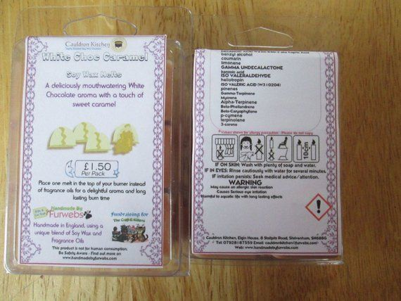 White Choc Caramel Scented Soy Wax Melts Pack