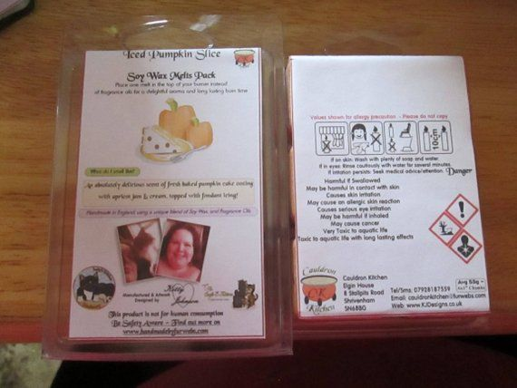 Iced Pumpkin Slice Scented Soy Wax Melts Pack