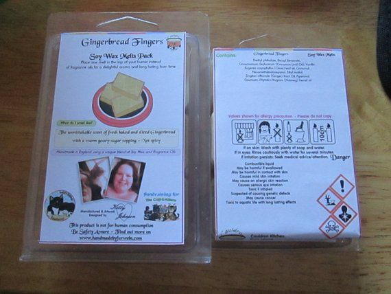 Gingerbread Fingers Scented Soy Wax Melts Pack